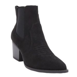 FOREVER 21 Suede Pointed Toe Western Booties 10